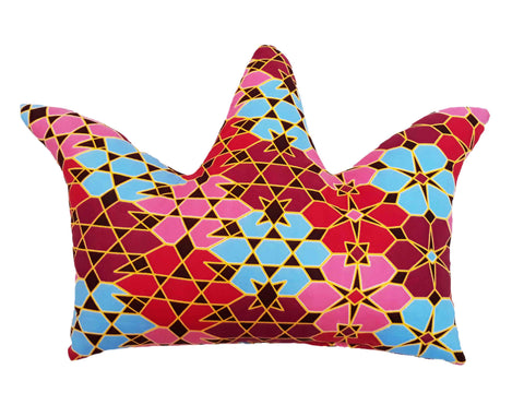 Decorative crown shaped nursery pillow - Muffin Sisters