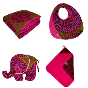 Ibeji | baby shower gift set | baby blanket | pillow | towel | bib | soft toy - Muffin Sisters