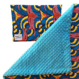 | African ankara minky baby blanket & pillow set - Muffin Sisters