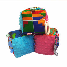 Load image into Gallery viewer, Pink & Blue Minky Sensory educational cube - Muffin Sisters