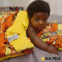 Load image into Gallery viewer, Yurugu |  African ankara minky baby blanket & pillow set - Muffin Sisters