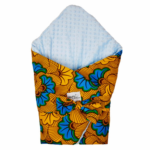 Blue Hibiscus | Swaddle sleeping blanket - Muffin Sisters