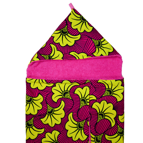 Yellow Hibiscus |  Toddler towel - Muffin Sisters