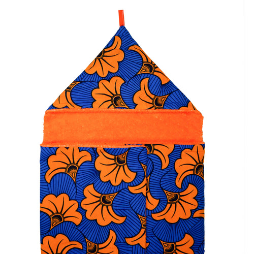 Orange Hibiscus |  Toddler towel - Muffin Sisters