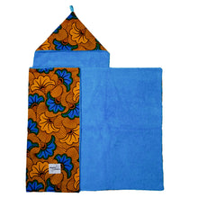 Load image into Gallery viewer, Blue Hibiscus |  Toddler towel - Muffin Sisters