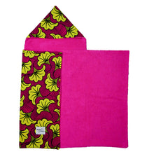 Load image into Gallery viewer, Yellow Hibiscus |  Toddler towel - Muffin Sisters