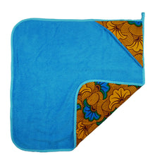 Load image into Gallery viewer, Blue Hibiscus | Newborn towel - Muffin Sisters