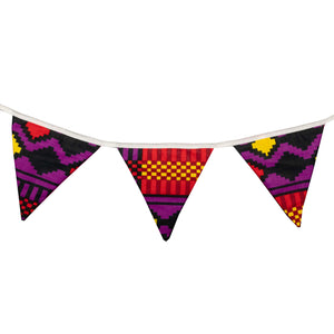 Small African print bunting - Muffin Sisters