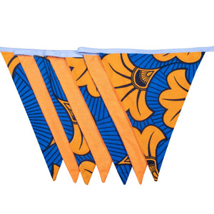 Orange Hibiscus | African print bunting - Muffin Sisters