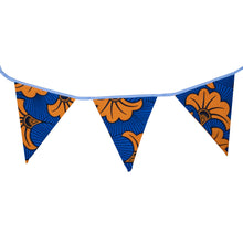 Load image into Gallery viewer, Orange Hibiscus | African print bunting - Muffin Sisters
