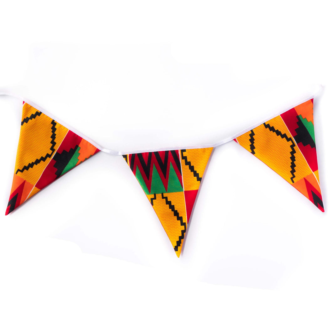 African print bunting