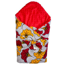 Load image into Gallery viewer, Red Hibiscus | Swaddle sleeping blanket
