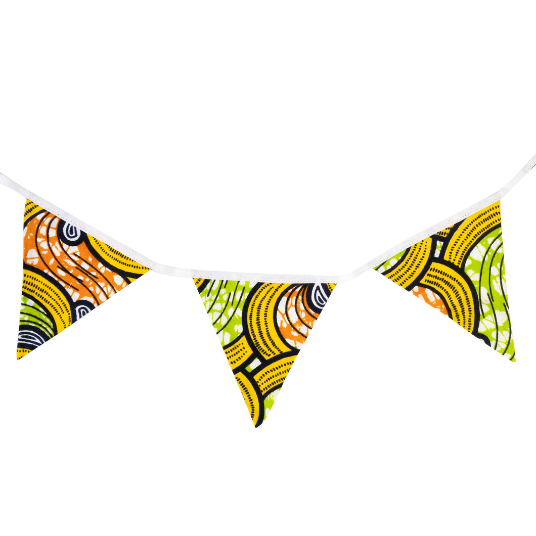 Small African print bunting