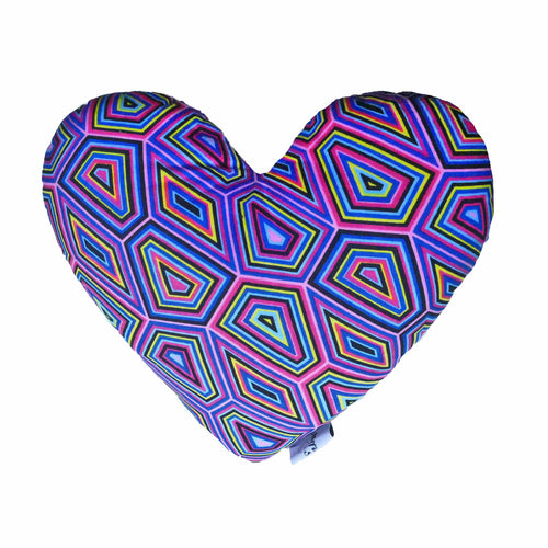 Decorative heart shaped nursery pillow - Muffin Sisters