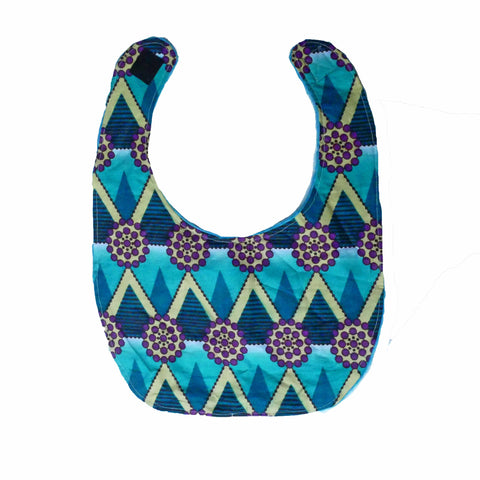 African ankara print baby bib with velcro fastening - Muffin Sisters