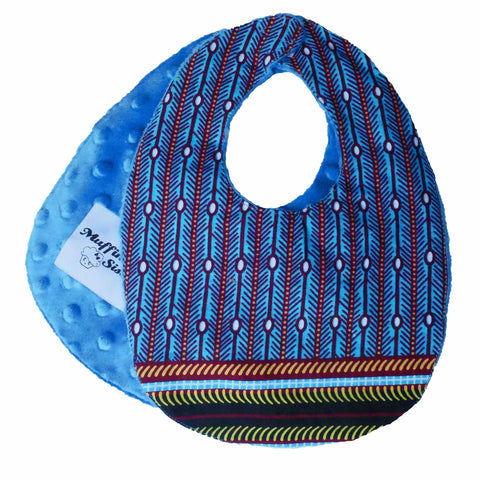 African baby bib with velcro fastening - Muffin Sisters