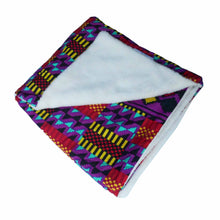 Load image into Gallery viewer, SALE Ecru soft minky African baby blanket - Muffin Sisters