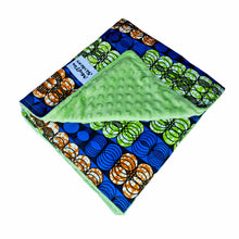 Load image into Gallery viewer, AFRICAN ANKARA MINKY BABY BLANKET - Muffin Sisters