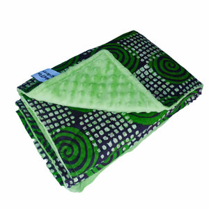 AFRICAN ANKARA MINKY BABY BLANKET - Muffin Sisters
