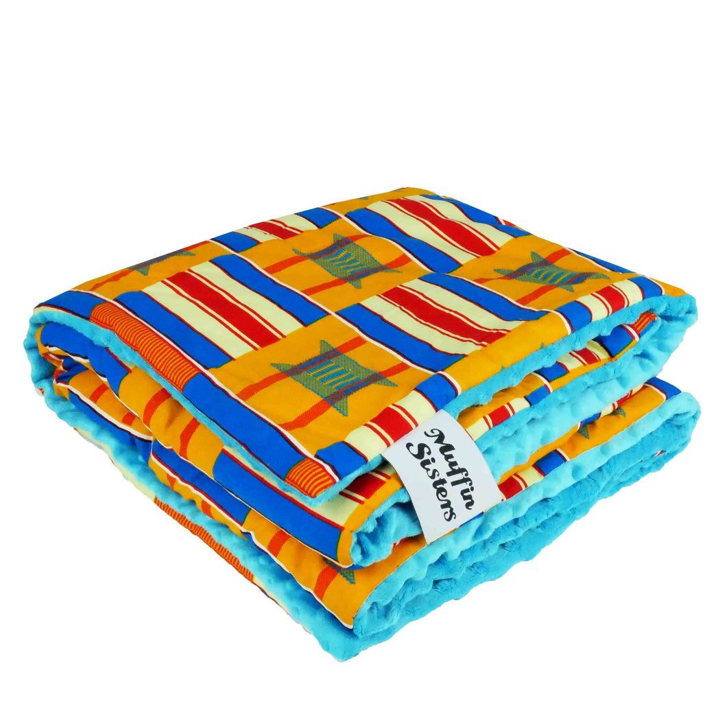Nyalitch |  African ankara minky baby blanket - Muffin Sisters