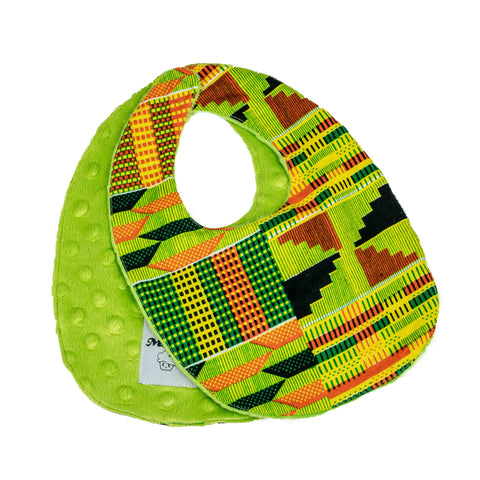 Teliko | African ankara print baby bib with velcro fastening - Muffin Sisters