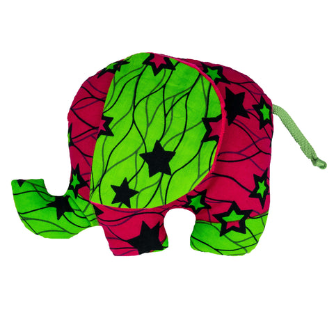 Dalila | African ankara print plush soft toy elephant - Muffin Sisters