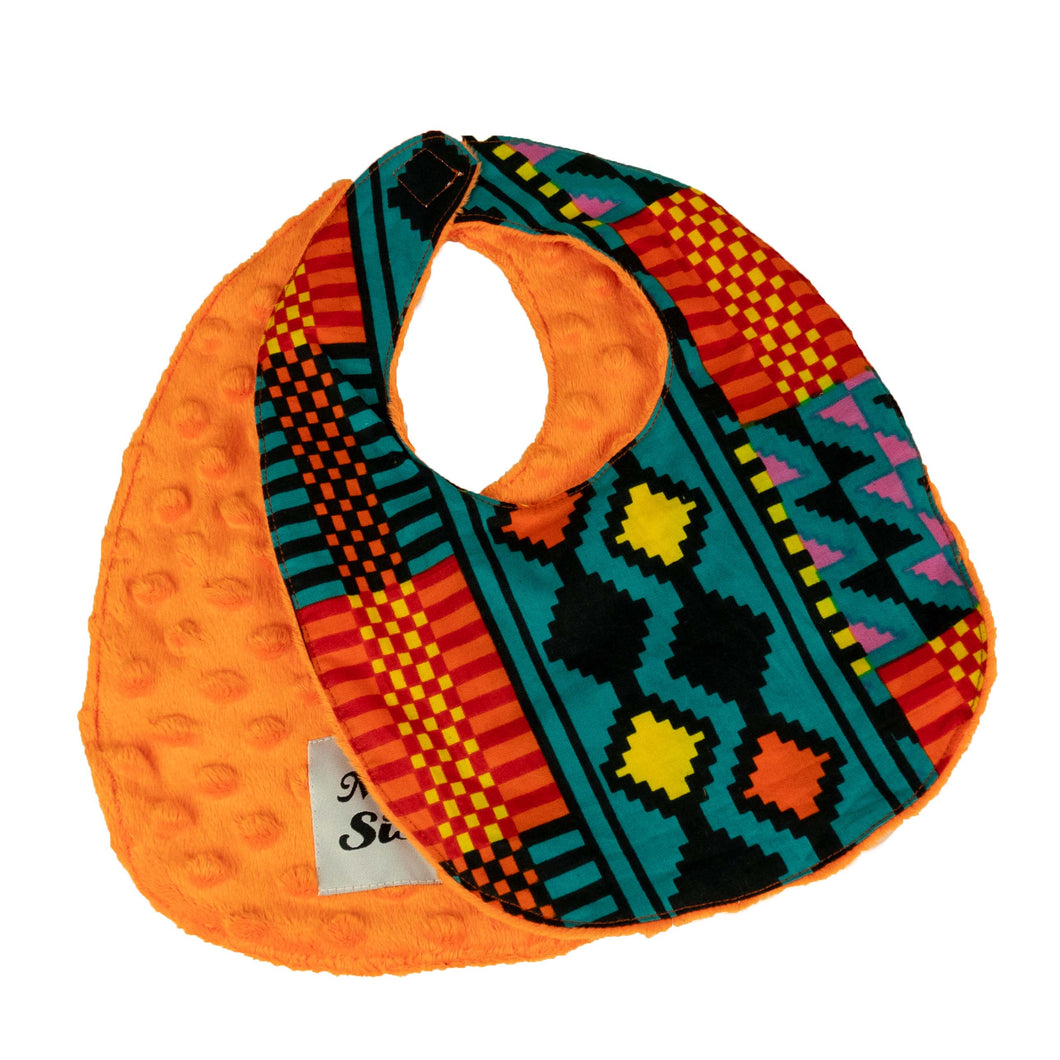 Diallo | baby bib with velcro fastening - Muffin Sisters