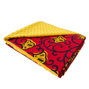 Red Leza | Throw blanket
