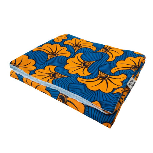 Orange Hibiscus | Throw blanket