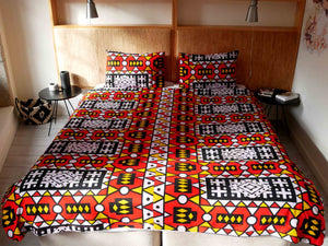 African print duvet cover & pillow set | African bedding | Ankara print bedding - Muffin Sisters