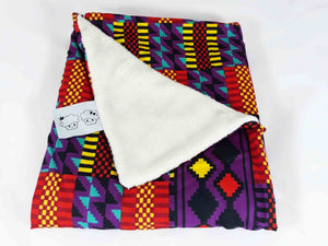 SALE Ecru soft minky African baby blanket - Muffin Sisters