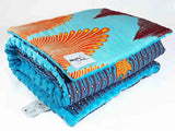 Blue minky dot African baby blanket & pillow set - Muffin Sisters