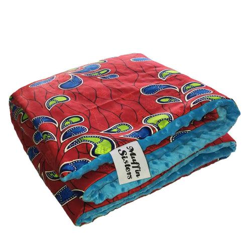 Ebore |  African ankara minky baby blanket & pillow set - Muffin Sisters