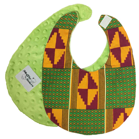 Zanahary | African ankara print baby bib with velcro fastening - Muffin Sisters