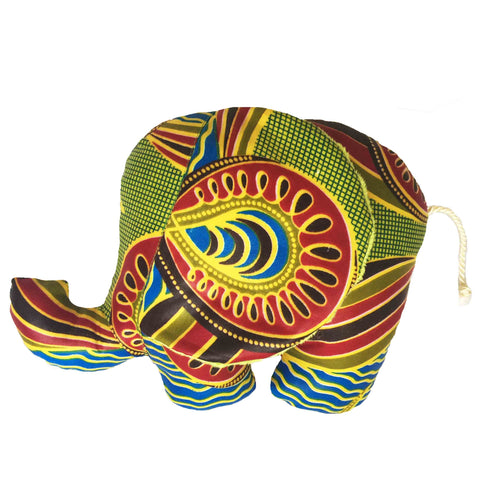 Jali | African ankara print plush soft toy elephant - Muffin Sisters