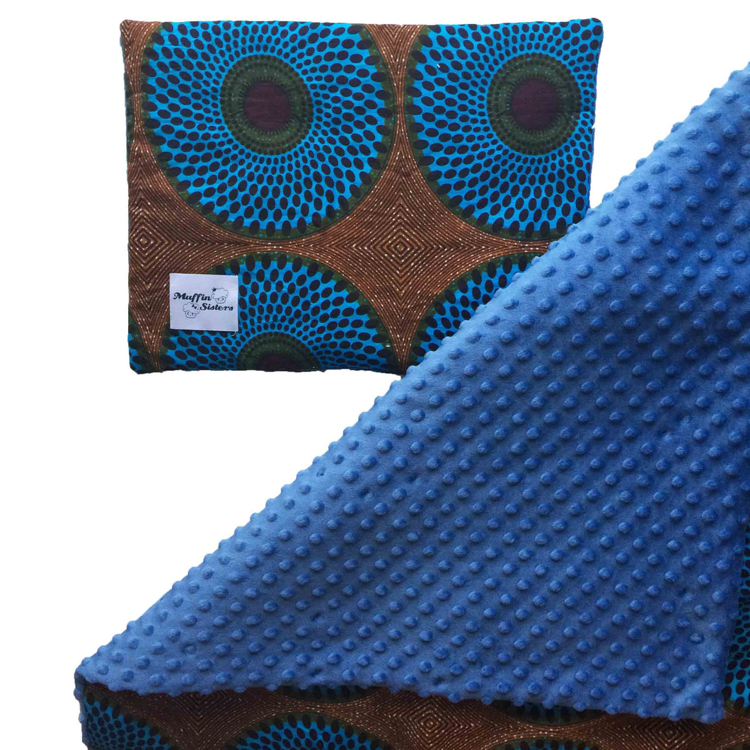 African ankara baby shower gift set | Baby blanket | Pillow | Towel | Bib | Soft toy - Muffin Sisters