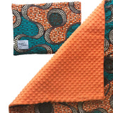Aja |  African ankara minky baby blanket & pillow set - Muffin Sisters