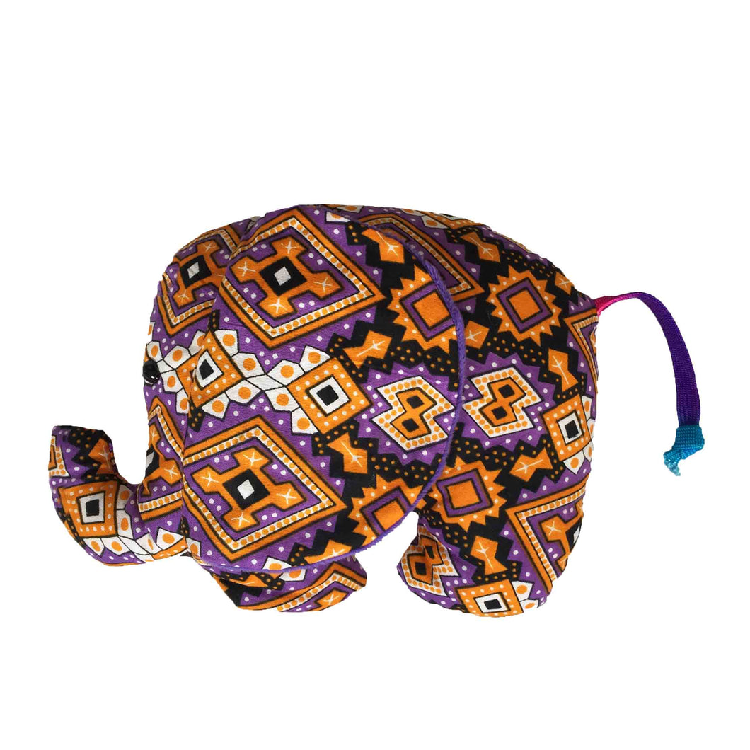 African print large elephant Soft Plush Cuddly Toy - Muffin Sisters
