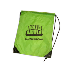 HelloWorld Drawstring Bags