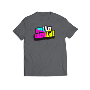 Classic Grey HelloWorld T Shirt