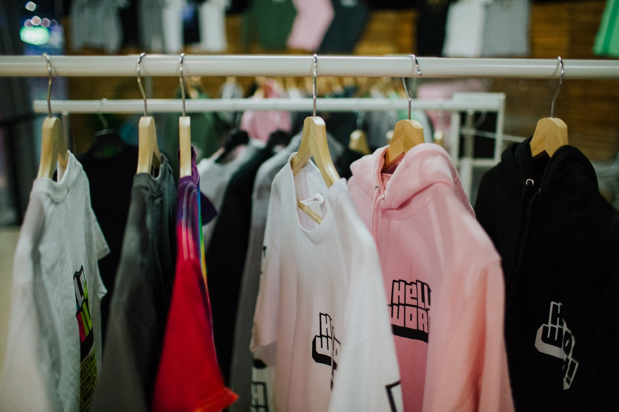 Classic Pink HelloWorld Pullover Hoodie
