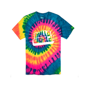 Tie Dye HelloWorld T Shirt