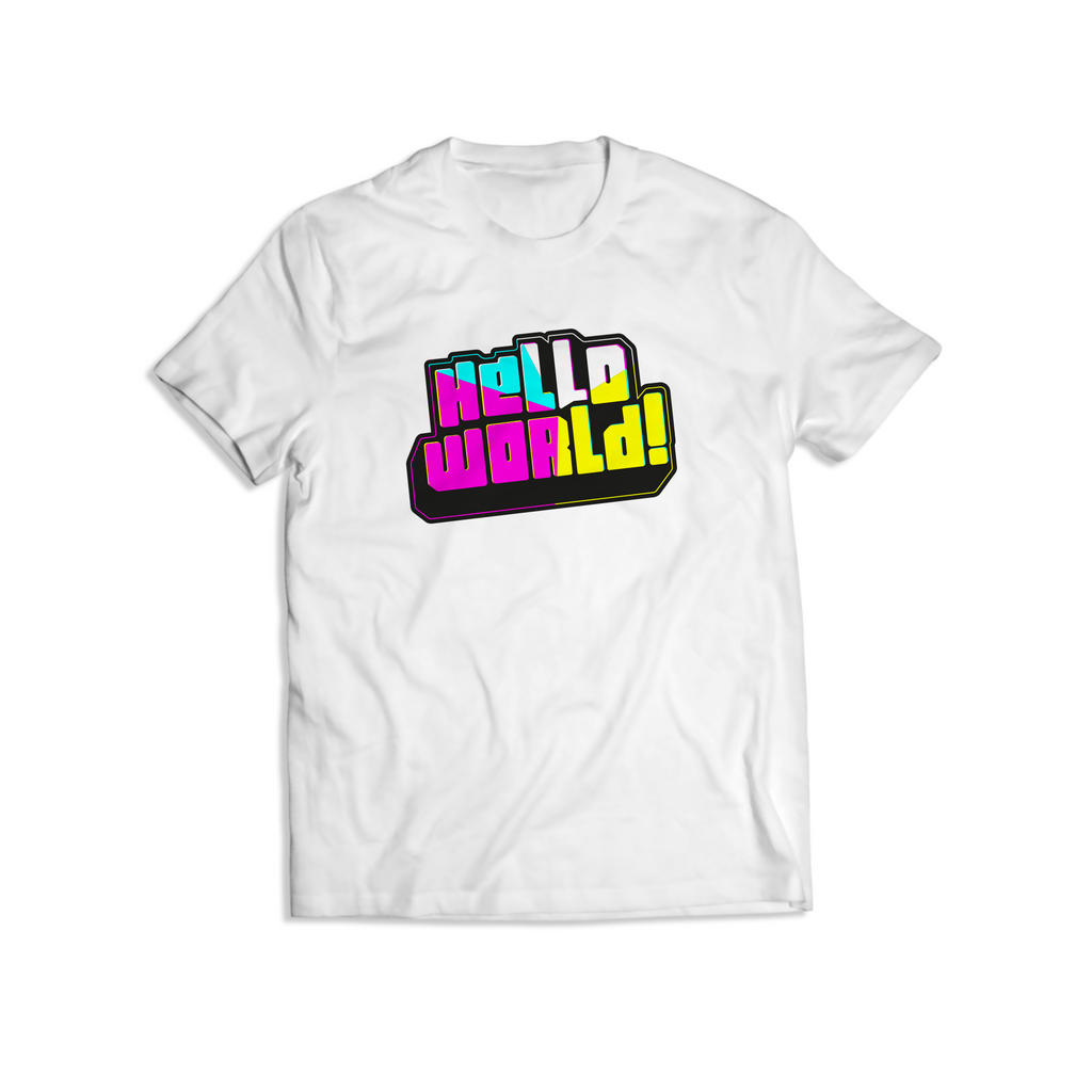 Classic White HelloWorld T Shirt