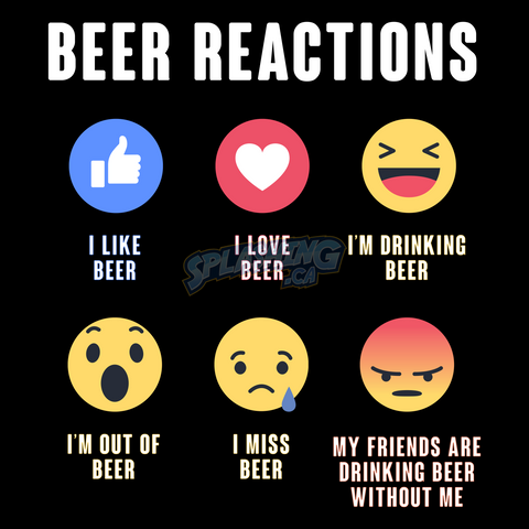 Beer Reactions Unisex Tee