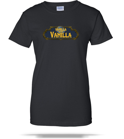 WOW - Vanilla Means Vanilla Ladies Tee