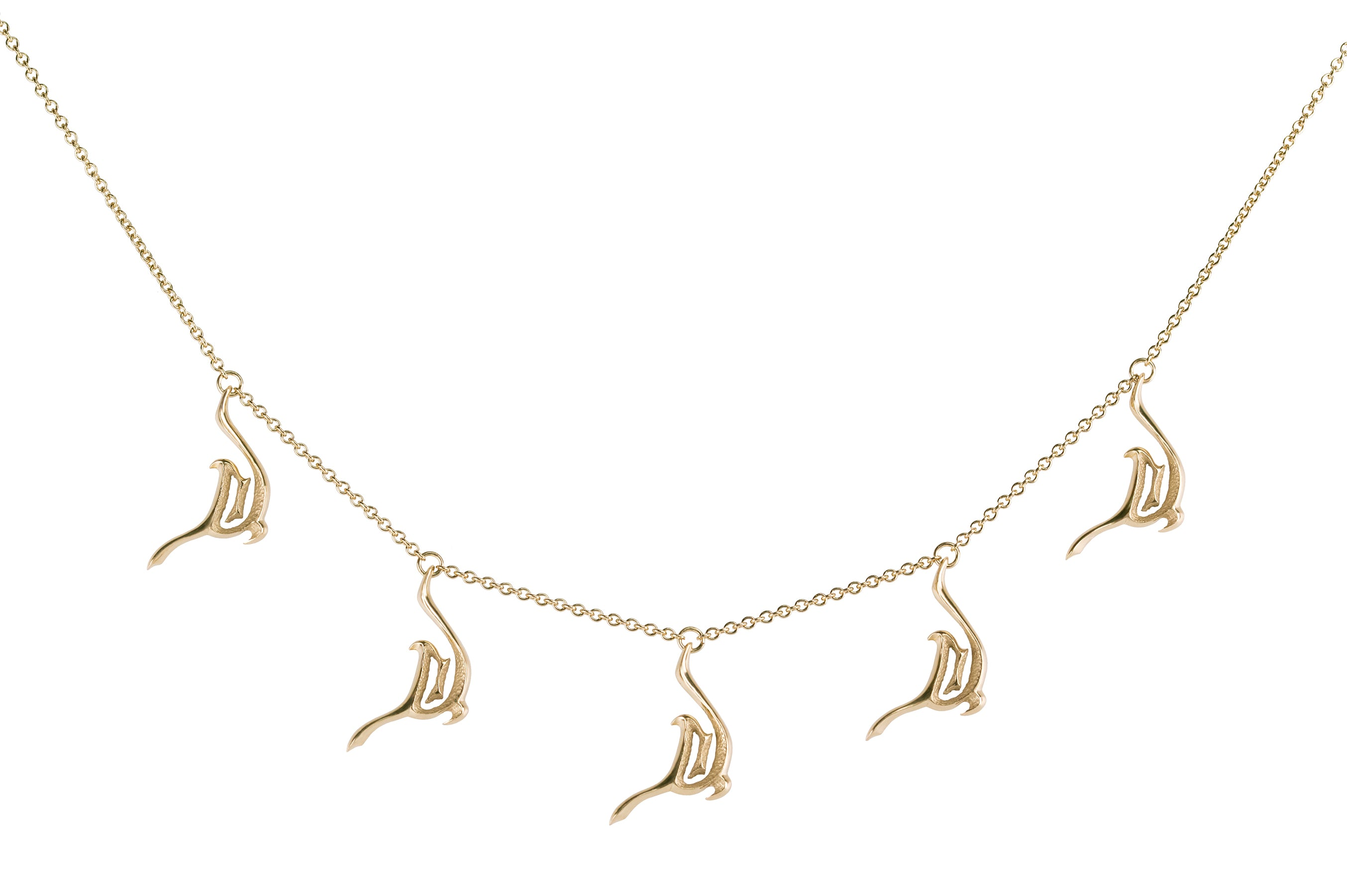 Orme-Brown Sand steps Necklace yellow gold