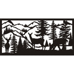 24 X 48 Buck Two Does Mountains River - AJD Designs Homestore