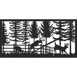 24 X 48 Deer in Garden - AJD Designs Homestore