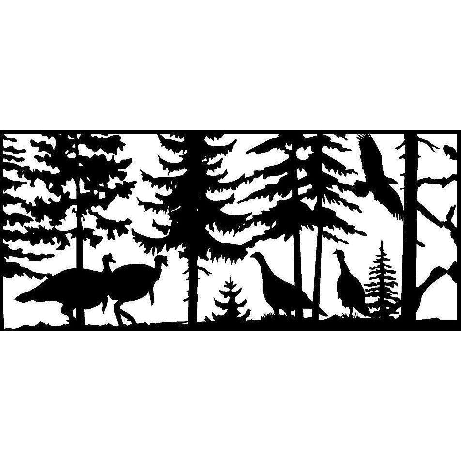 24 X 48 Four Turkeys and an Eagle - AJD Designs Homestore