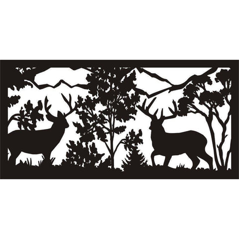 24 X 48 Two Bucks Face To face - AJD Designs Homestore